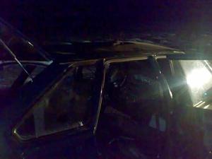 Одна из машин на месте ДТП. Фото предоставлено пресс-службой ГУ МЧС России по Иркутской области