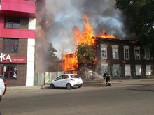 Пожар. Фото c твиттера @Boris Ilyin