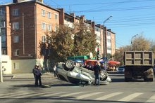На месте аварии. Фото предоставлено УМВД России по Иркутску