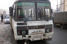 Автобус, участвовавший в аварии в Иркутске