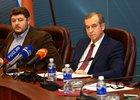 На пресс-конференции. Фото пресс-службы правительства региона