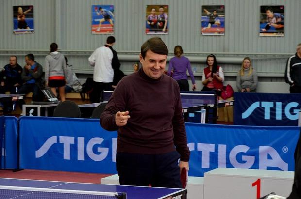 Игорь Левитин в Центре настольного тенниса. Фото из архива федерации