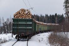 Вагон с древесиной. Фото со страницы пользователя spok182 в Livejournal