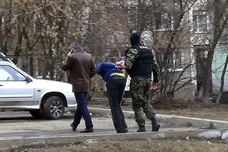 Во время задержания. Фото пресс-службы ГУ МВД России по Иркутской области