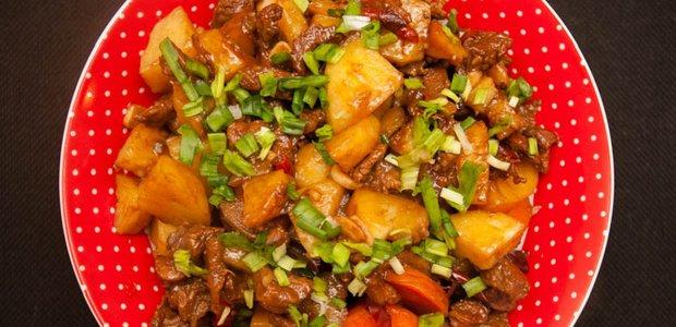 Говядина с картошкой по-китайски