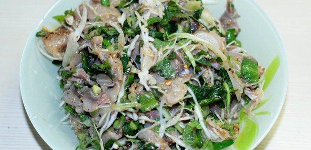 Лаосское блюдо лаап