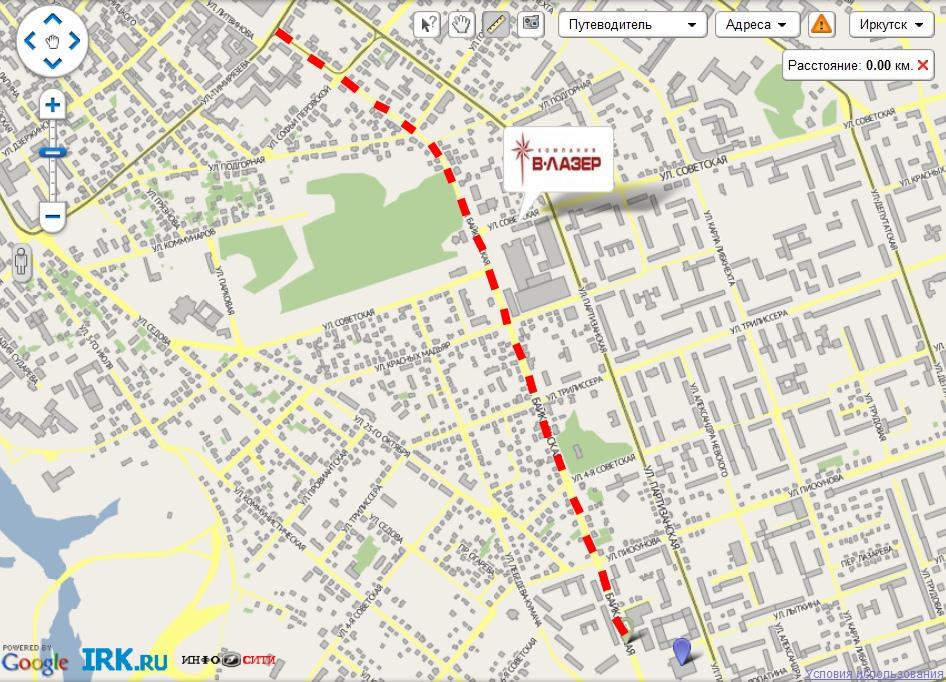 пробки в центре Иркутска