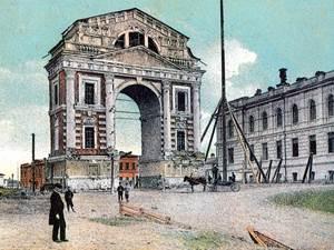 Московские триумфальные ворота в Иркутске. Изображение с сайта www.nicolaslud.prihod.ru