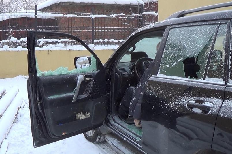 На месте преступления. Скриншот видео ГУ МВД России по Иркутской области