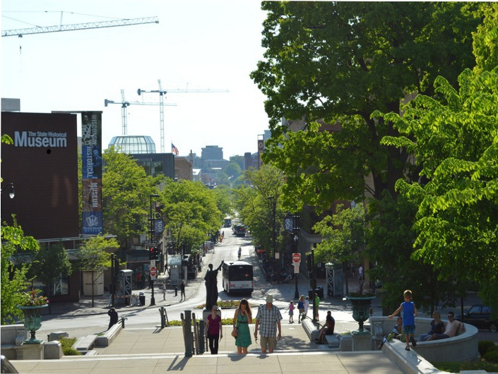 Стейт-стрит от Капитолия к университету