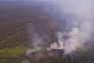 Пожары в Прибайкалье. Фото пресс-службы правительства Иркутской области