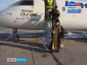 Освящение самолета. Фото Вести-Иркутск