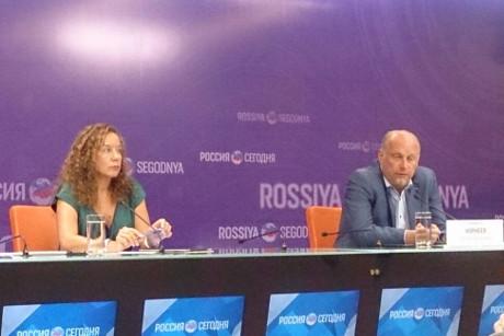 На пресс-конференции. Фото ИА «Иркутск онлайн»