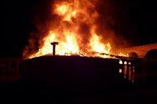 На месте пожара. Фото пресс-службы ГУ МЧС по Иркутской области