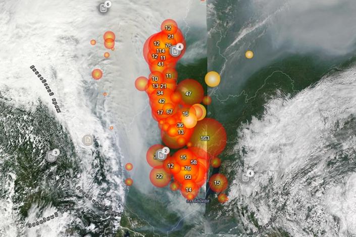 Термоточки Иркутской области на 26 июля