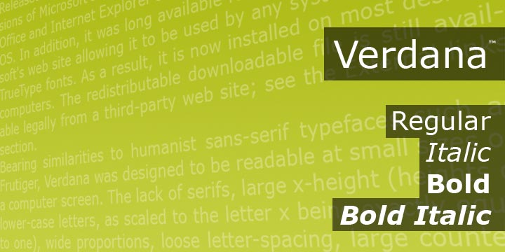 Вердана, иллюстрация ссайта myfonts.com/fonts/ascender/verdana/