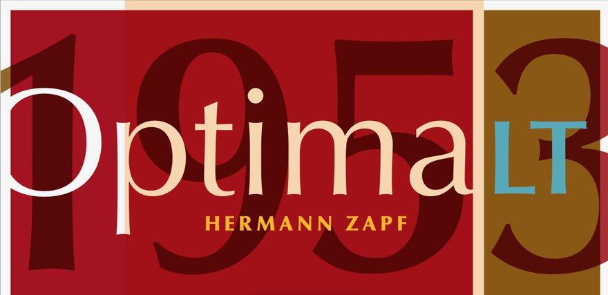 Оптима, иллюстрация ссайта myfonts.com/fonts/linotype/optima/
