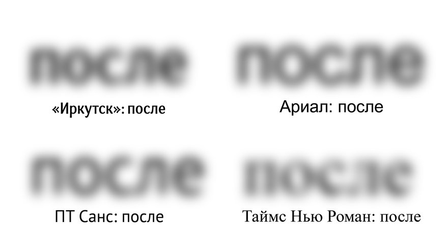 Буквы не должны путаться людьми сослабленным зрением (или вусловиях плохой видимости). С—со, е—с в. Итак далее.