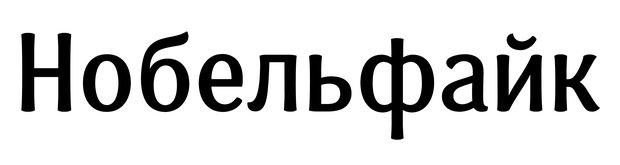 Нобельфайк — слово, которым традиционно демонстрируют особенности шрифта.