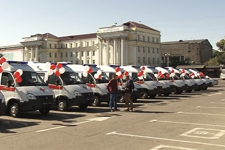 22 новых автомобиля скорой помощи поступило вПриангарье