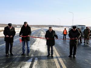 Церемония открытия участка трассы. Фото пресс-службы Упрдор «Прибайкалье»
