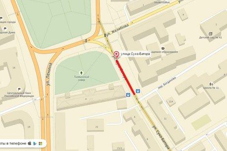 Научастке улицы Сухэ-Батора частично ограничат проезд с8 по10октября