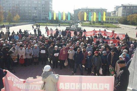 ВАнгарске прошел митинг против ограничения поездок для льготников