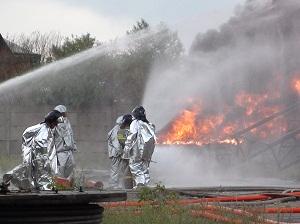 На месте пожара. Фото пресс-службы ГУ МЧС по области