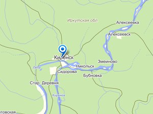 Киренск. Изображение maps.yandex.ru