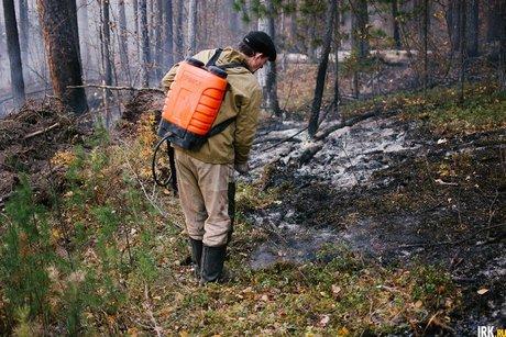Пожар площадью 450 гектаров вОльхонском районе потушили
