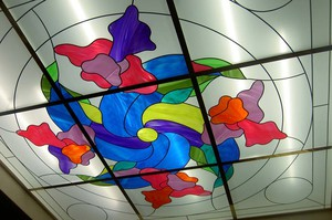 Цветной витраж. Фото из портфолио «Стекольной компании»