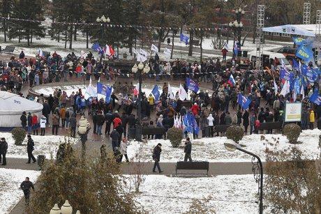 ВПриангарье участие впраздновании 4ноября приняли 12 тыс. человек