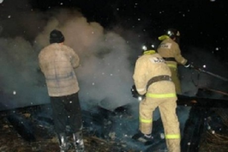 ВЭхирит-Булагатском районе навсе 100% сгорело строение начальной школы