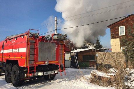 НаДавыдова вИркутске вспыхнул дом
