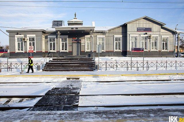 Здание вокзала на станции Кая