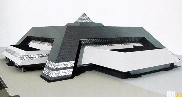 Проект Ледового дворца.  Изображение с сайта «Иркипедии»