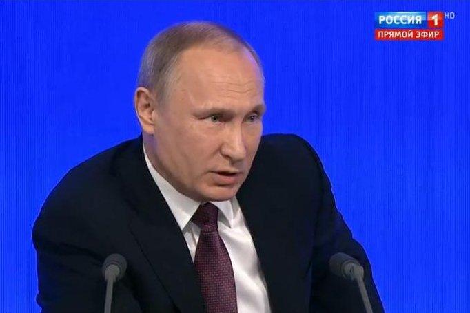 Владимир Путин. Скриншот трансляции