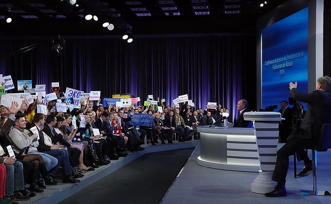 Пресс-конференция Владимира Путина. Фото с сайта kremlin.ru