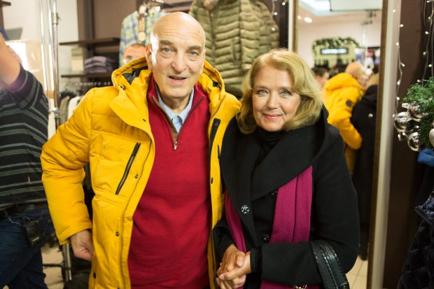 Алексей Петренко и Ирина Алферова на съемках фильма «Елки 5». Фото с сайта  vk.com/elki_5