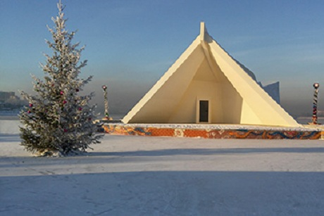 Новые ледовые городки раскрываются вИркутске