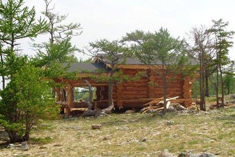 Строительство на мысе Зундук. Фото ИА «Иркутск онлайн»