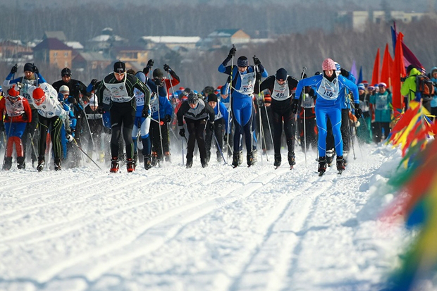 Участники «Лыжни России» в 2014 году. Фото Владмира Смирнова