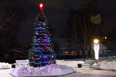 ВТайшете схвачен похититель новогодней гирлянды сгородской елки
