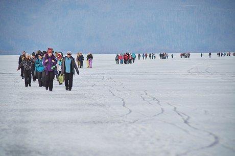 Участнки ледового перехода. Автор фото — Евгений Чернигов