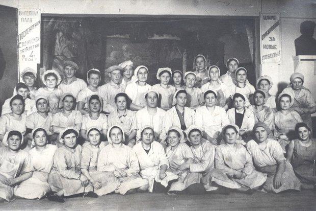 1944 год. Бригада печного цеха хлебозавода