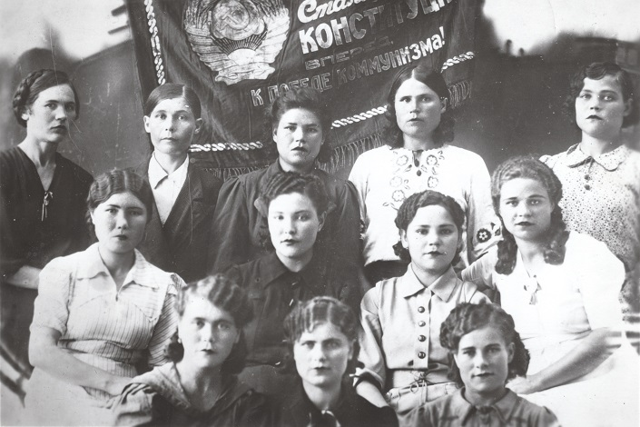 1944 год. Бригада макаронного и сухарного цехов хлебозавода