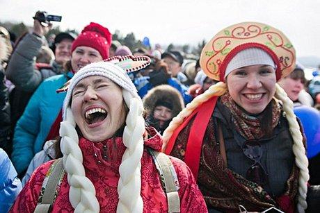 На празднике Масленицы в «Тальцах». Автор фото — Антон Климов