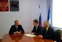 Сергей Левченко, Олег Ярошенко и Игорь Ушков. Фото предоставлено пресс-службой правительства региона