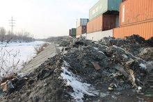 Свалка на берегу Ушаковки. Фото Иркутского отделения ОНФ