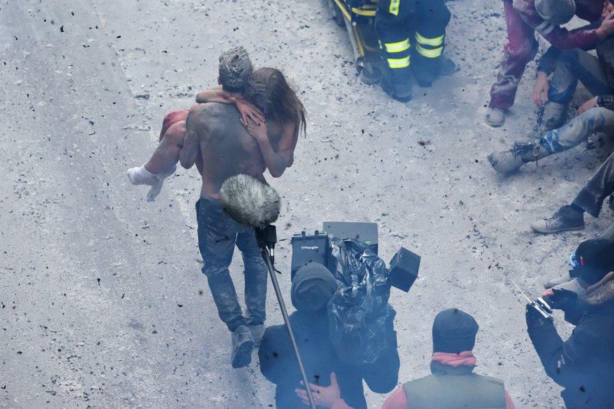 Сцена спасения: вид съемок сверху (фото с сайта thr.ru)